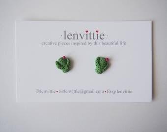 Cactus Polymer Clay Stud Earrings