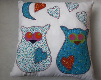 Scarlett OWL cushion and blue moon