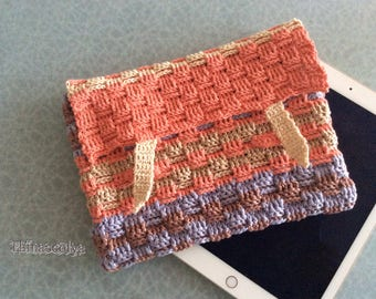 Crochet Tablet case, cover for Tablet in crochet
