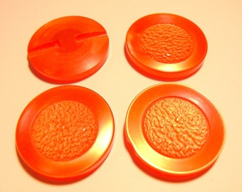 diameter 33mm patterned 50-70's vintage red poppy button