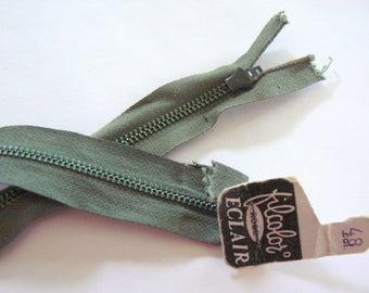 Green 18cm zipper No. 48 zipper Filcolor 50-70s vintage