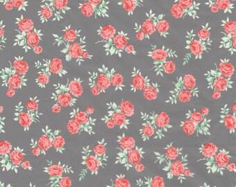 Sheet 30 x 40 cm - Roses on gray background N 646 - Ref FDA646 Decopatch