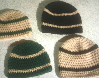 Baby beanies, crochet baby hats for boys and girls - sizes preemie, 0-3 months, 3-6 months, 6-12 months