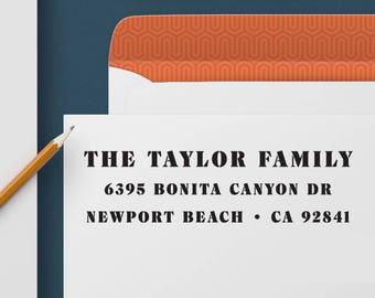 Return Address Stamp 331 - Self Inking Stamp, Custom Address Stamp, Custom Stamp, Personalized Address Stamp, Wedding and Housewarming Gift