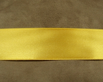 SATIN Ribbon - 4 cm - mustard yellow
