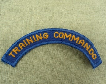 badge military sewing - blue and yellow