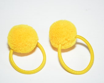 Ball with elastic hair tie rope