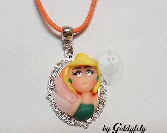 Tinkerbell Kawaii polymer clay necklace