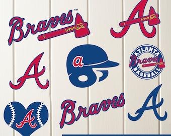 INSTANT DOWNLOAD Atlanta Braves SVG,Atlanta Braves Cut Files,Atlanta Baseball Clipart,Atlanta Braves Dxf,Baseball Clipart