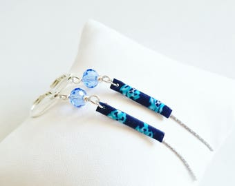 Silver and blue polymer clay
