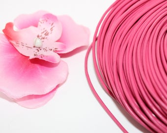 Pink 2mm - creating jewelry leather cord 1 m