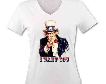 T-shirt woman I want you