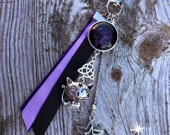 Keychain, bag P3 purple jewelry