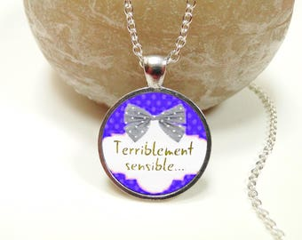 Lariat Necklace message terribly noticeable cabochon ● ●