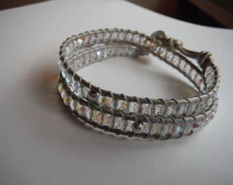 Chan luu transparent grey silver