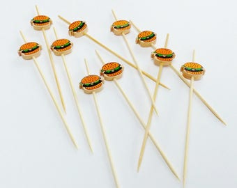 10 wooden decor hamburger food pic