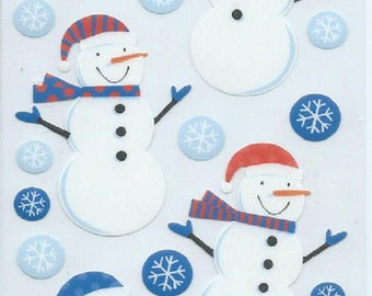 Stickers for scrapbooking Sticko snowman