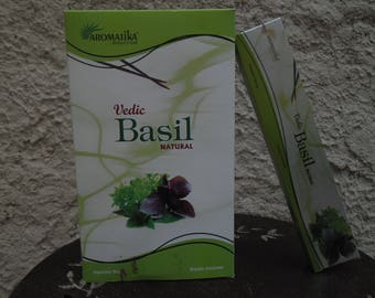 Box of 15 gr Aromatika Basil premium incense sticks