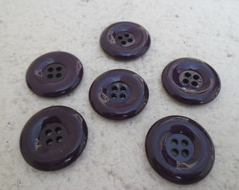 6 buttons 30 mm purple / BUTTONS / buttons VIOLETA