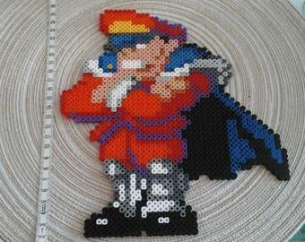 Mr Bison. Street Fighter. Pixel art