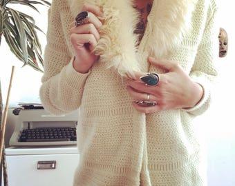 1970's Lamb Fur Cardigan
