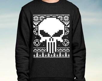 Marvel - the Punisher - Black Christmas Jumper / Sweatshirt
