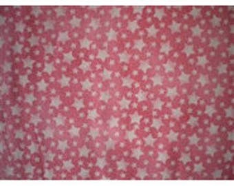 patchwork fabric pink stars on pink ref912rose