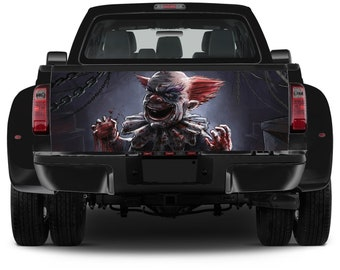 Truck Tailgate Graphics Wicked Angry Clown Vinyl Decal Color Sticker Trunk Wrap
