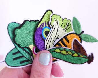 Vegetable Patch, Embroidered patch, Vegetable Applique, Food patches, Farm Patch,  Iron on Patches, Cute Patches, Veggie Patch