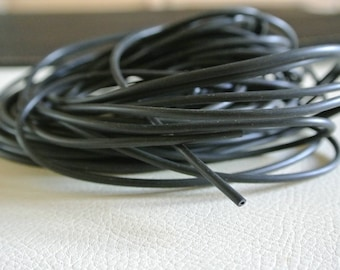 1.5 meter hollow rubber cord 2.5 mm in diameter, hole 1 mm, buna cord black color