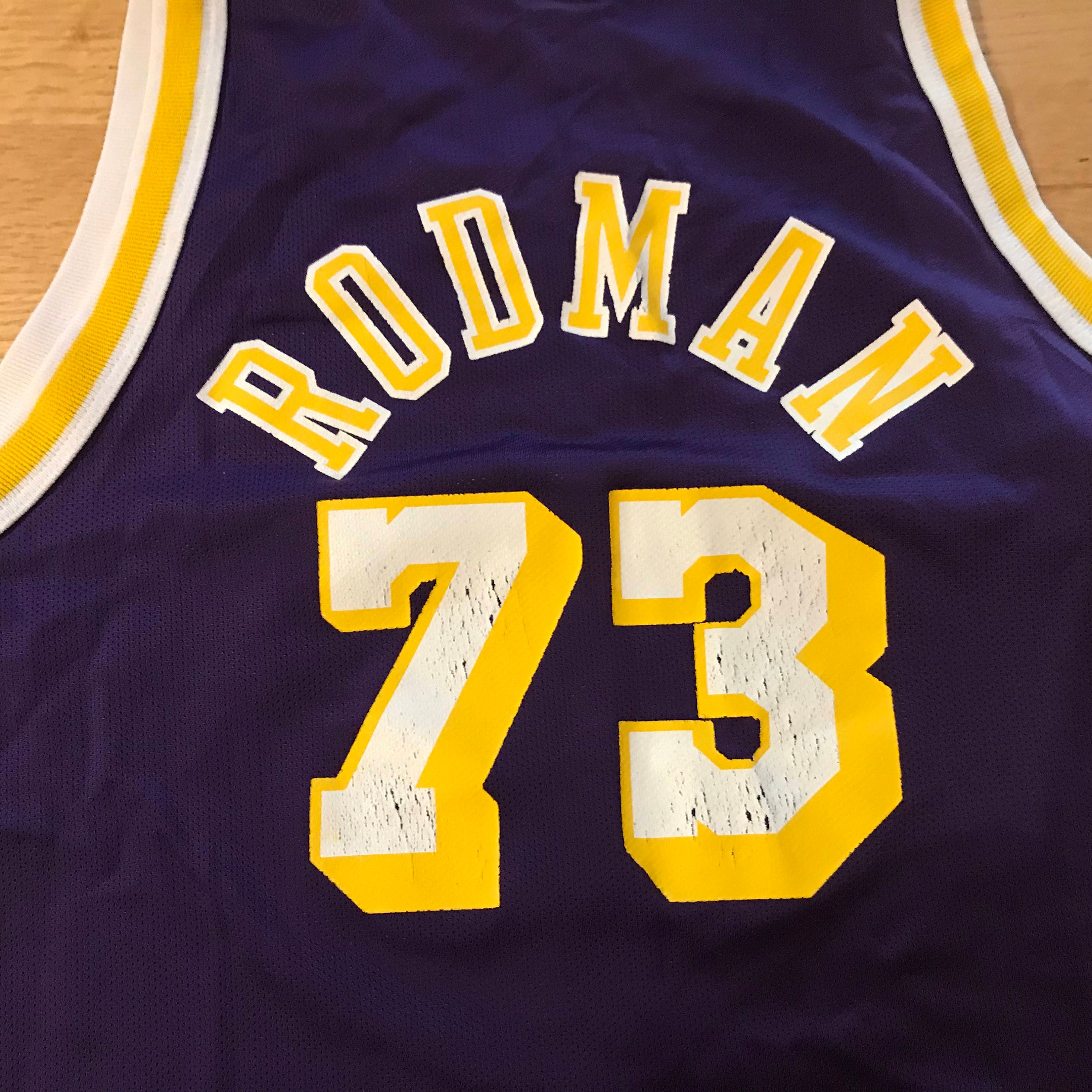 d1225aec1c2f Vintage Champion Dennis Rodman Los Angeles Lakers NBA Basketball Jersey  73  Size M