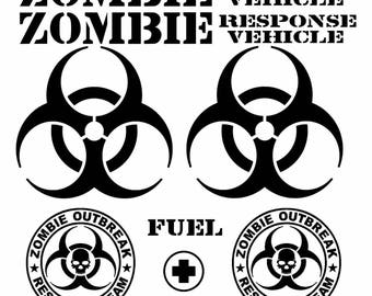 Zombie Response Team Vinyl Decal Sheet