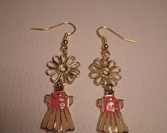 """01555 - Earrings """"my little pink dress"""""""