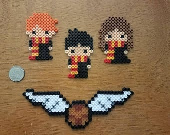 Harry Potter themed Perler Figures
