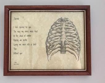 """Framed Poem """"Starved"""""""