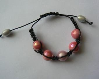 Pink Camellia Shamballa bracelet