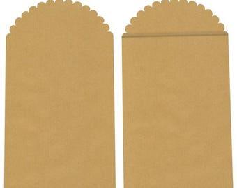 Kraft 23.5 x 13 cm pattern pouch: plain, Vintage.