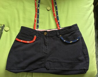 Upcycled jeans handbag