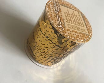 Ribbon sequin - 10 m roll - Gold / Shiny Gold
