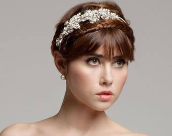 Bridal Tiara Elaborated With Swarovski Crystals