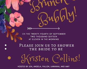 Bridal Shower, Bachelorette, Party Invitation