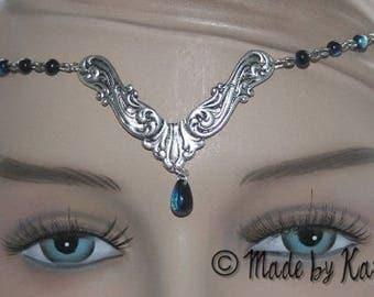 Tiara tiara iridescent necklace Gothic Celtic jewelry