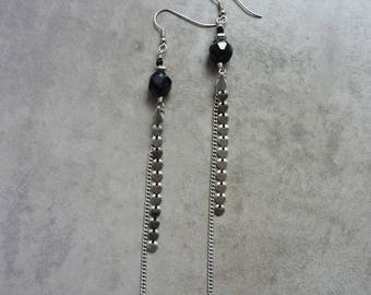 Long earrings Dark Amazon