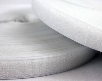1 m Velcro tape, self gripping, velcro sew white 20 mm (the meter)