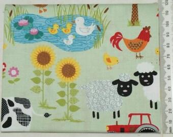 "Fabric - ""Jolly farm"" - Makower 07"