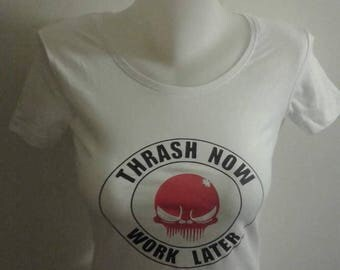 T-shirt women long Thrash now Work later