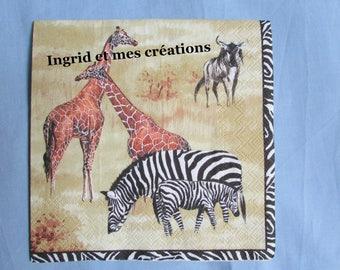 Paper towel savanna animals
