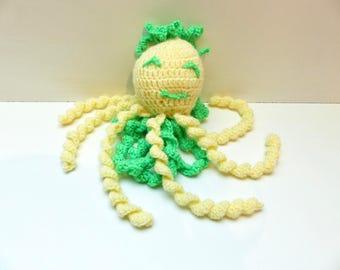 Yellow Octopus Miss Lena blanket