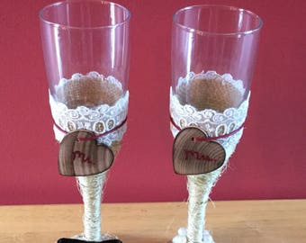 Twined Champagne Flutes