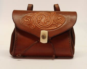 "Small purse ""Anke"" - pressed pattern"